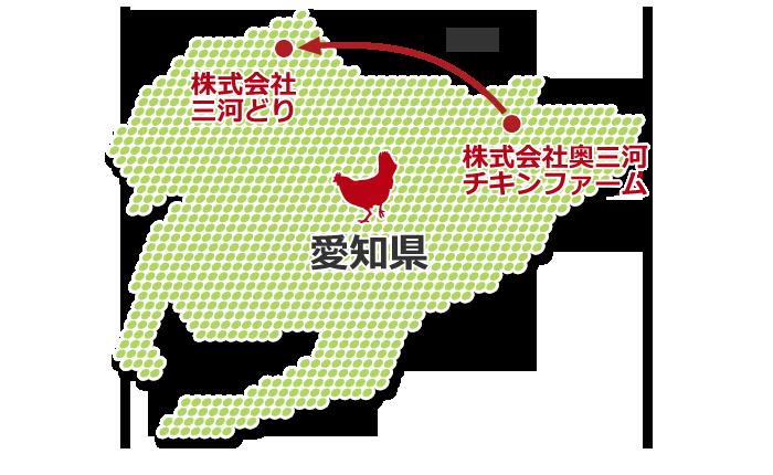 農場~処理場が同一県内にあり、距離的な優位性があります。