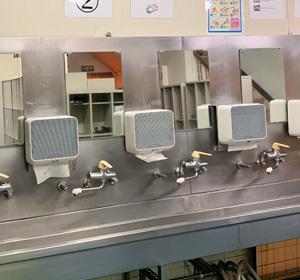 手洗い設備(エアータオル)